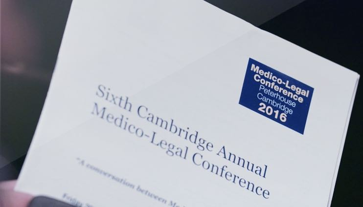 Dr Spencer co-organised the 2016 Medico-Legal Pain Conference, held on 30 September 2016 at Peterhouse College, Cambridge.